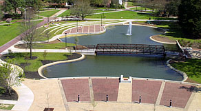 The Water Feature and Amphitheatre