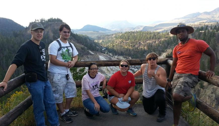 Students at Yellowstone