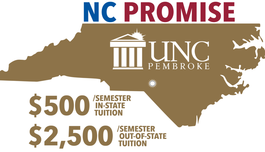 NC Promise Beginning Fall 2018, $500/semester in state tuition