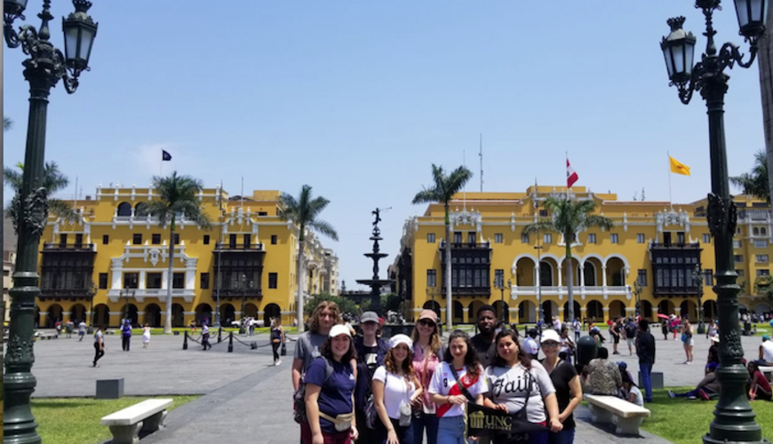 Foreign Languages Program faculty and students visit Lima Centro in Peru over Spring Break 2019.