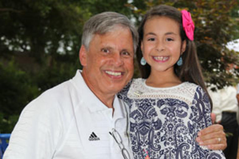 Chancellor with Chloe Locklear at the Star Spangled Celebration