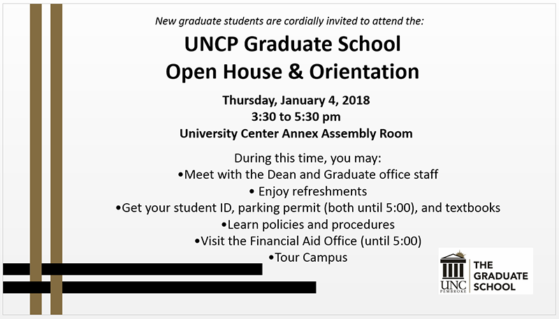 Spring 2018 Open House & Orientation