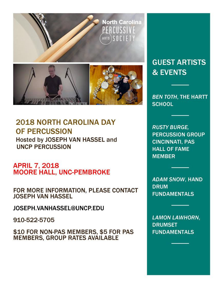 NC PAS 2018 Day of Percussion