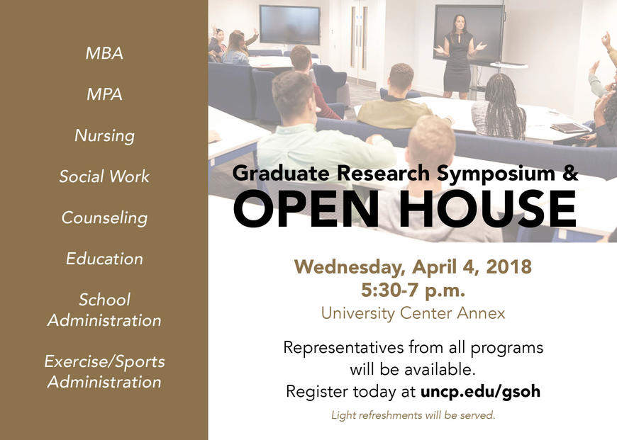 2018 Graduate Research Symposium and Open House