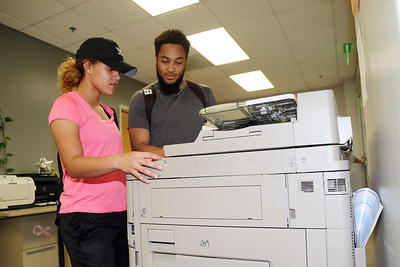 Students using copier