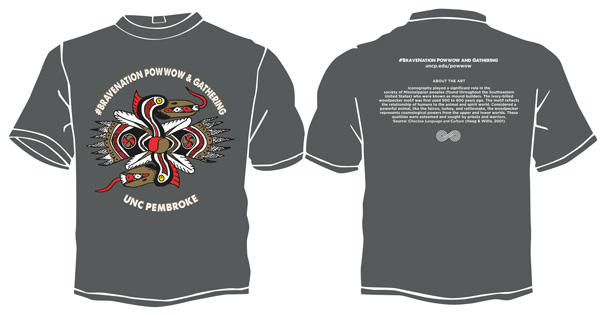 Front and back of powwow t-shirt