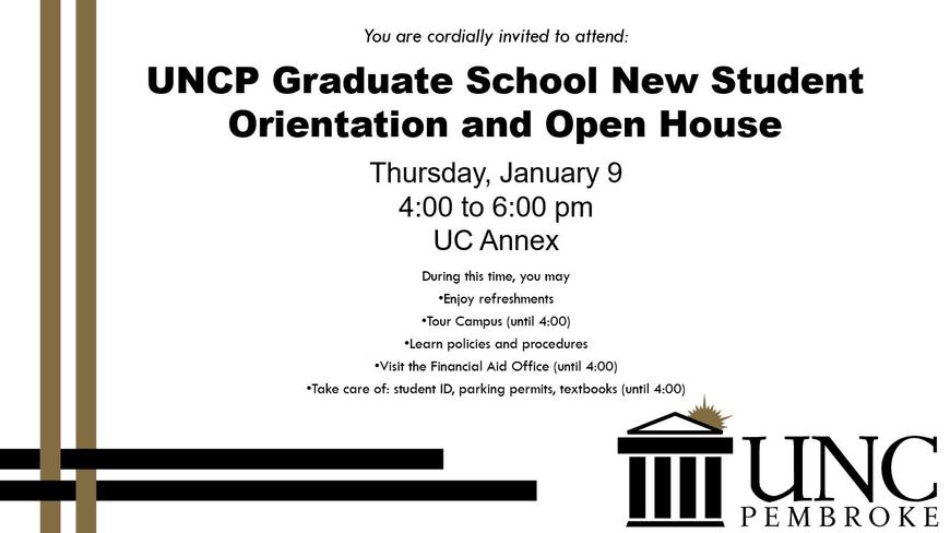 Spring 2020 Open House & Orientation