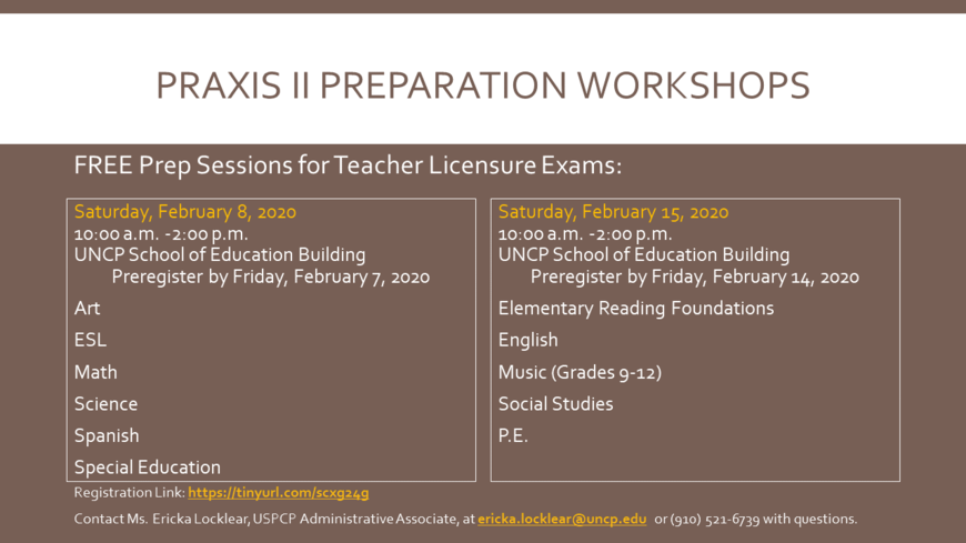Praxis II Preparation Workshops