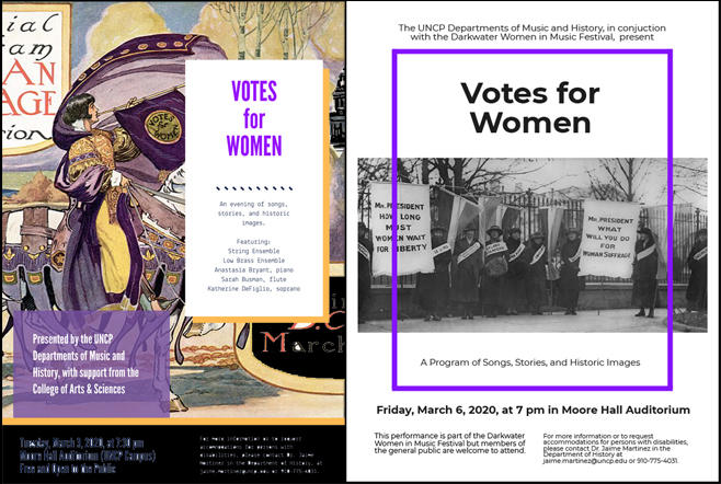 """Votes for Women"" Flyers"