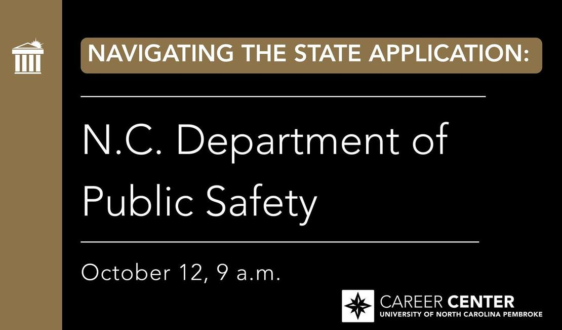 Navigating the State Application Process NC Department of Public Safety October 12 10AM