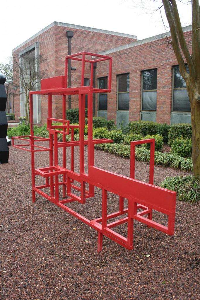 Jeff Dabney: Painted Steel sculpture was displayed in downtown Robbins, NC as part of a large public art exhibition of student work to generate interest in the North Carolina Small Town Economic Prosperity Program.