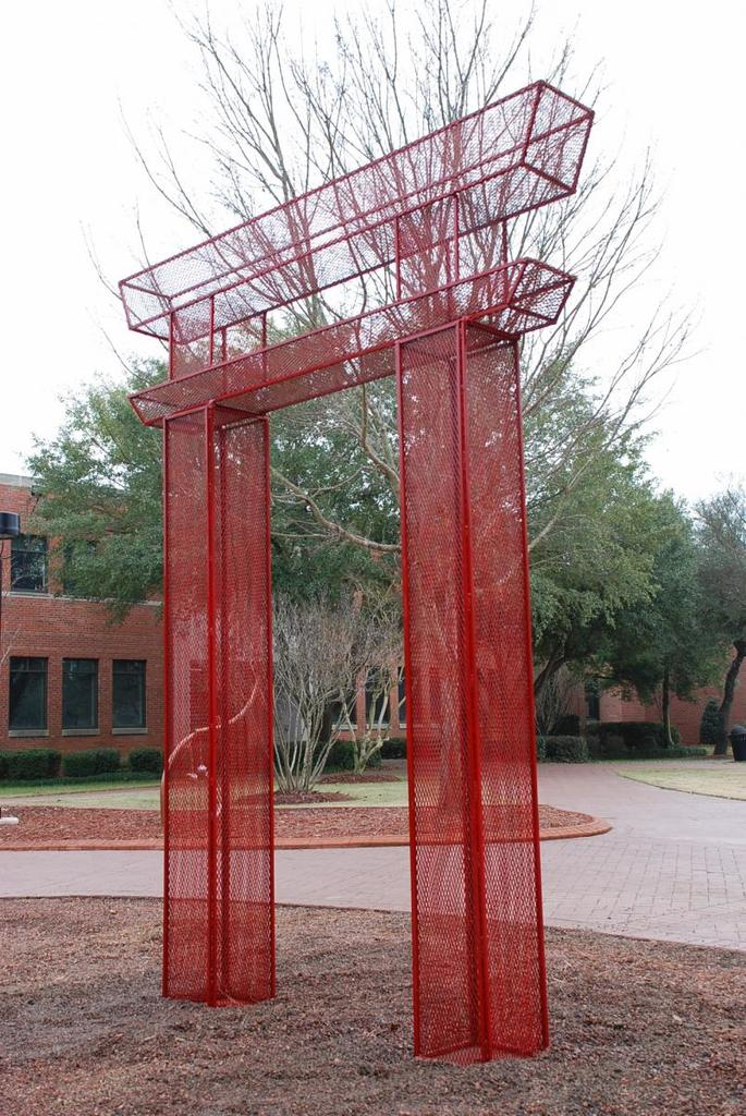 Randall Williams: This painted steel sculpture was displayed at UNC Pembroke as part of a large public art exhibiton of student work that continues as an ongoing part of the UNCP campus.