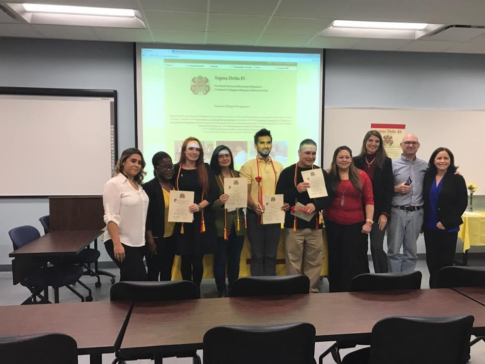 Sigma Delta Pi inducts four new members!