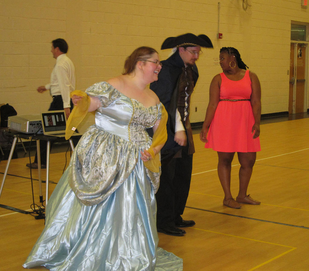 Professors Rizzo and Berntsen get into character at ETFL's regency ball