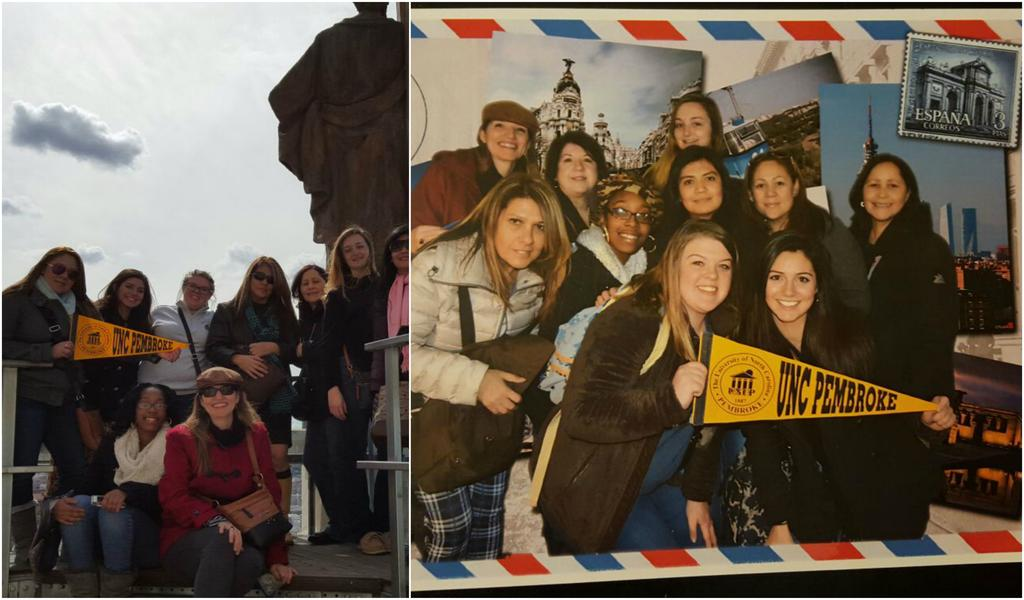Spanish students visit Madrid during a study abroad trip..