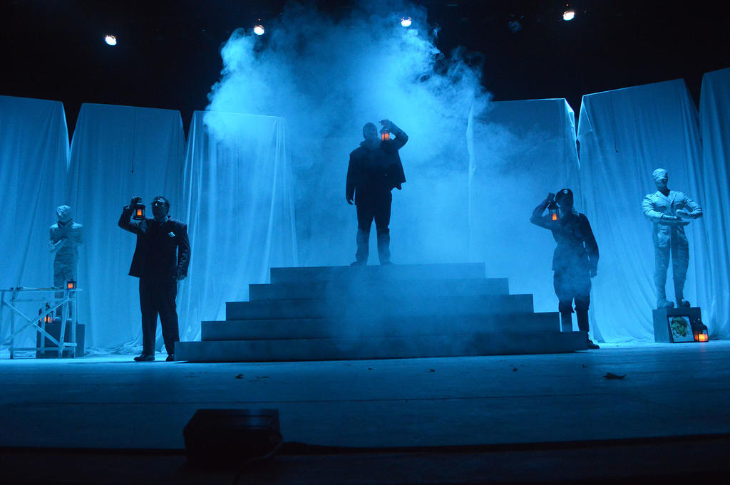 UNCP theatre students mount an elaborate production of Shakespeare's Hamlet.
