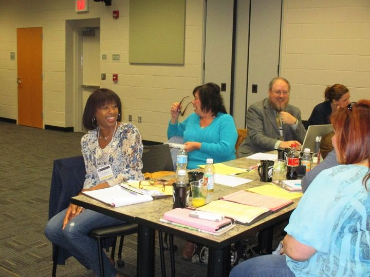 Dr. Ladd confers with colleagues in the School of Education at a regional conference.