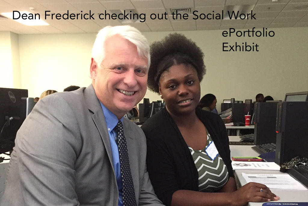 Dean Frederick Checking Out the Social Work ePortfolios