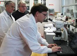 Len Holmes in the Biotech Center Lab