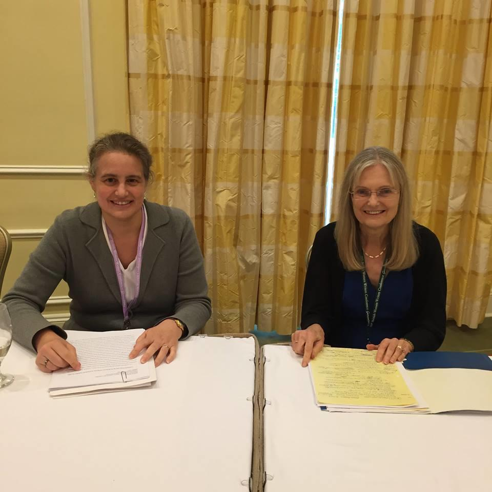 Professors Monika Brown and Melissa Schaub at the 25th Annual British Women Writer's Conference