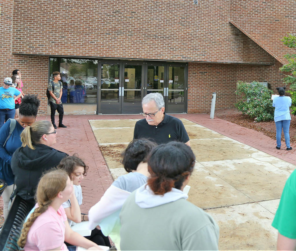Dr. Richard Vela Discusses Staging Choices With His Shakespeare Class