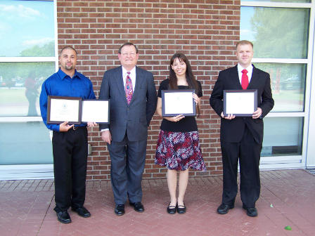 2012 Left to right: Christopher Lowery, Dr. Charles Lillie, Mariela Carter, Johnathan Corbett.  Not pictured: Heidi Dingwell