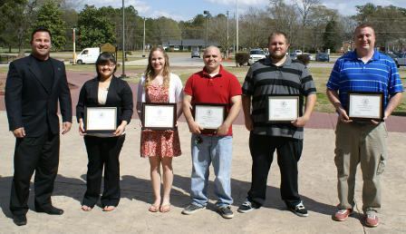2013 Left to right: Dr. Steven Bourquin, Lindora Baker, Heidi Dingwell, Ricky Windom, Lewis Whitley, Christopher Bowen