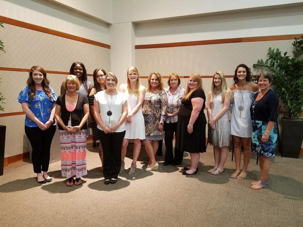 Nursing Honor Society inductees pose in a group photo.