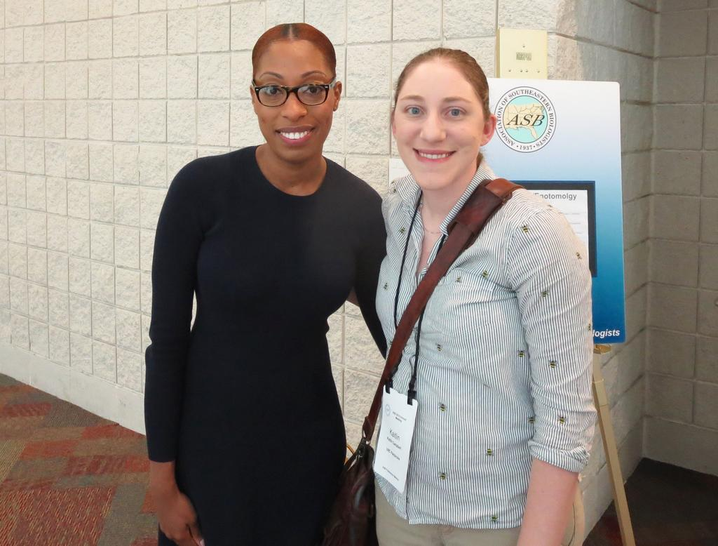 La-Teisha Allen and her mentor Dr. Kaitlin Campbell