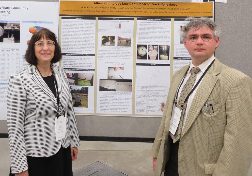Dr. Rita Hagevik and alumnus Dr. Grant Pilkay presented their research on tracking honeybees