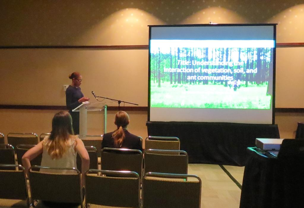 La-Teisha Allen presented her research on the effects of abiotic conditions on native ants