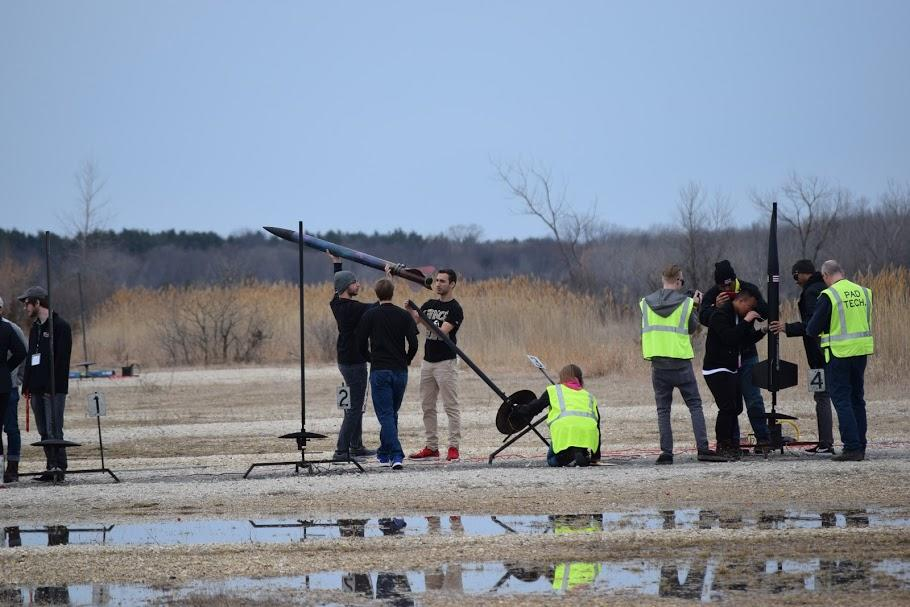 UNCP Rocket Launch Team Competing in Wisconsin, Spring 2018