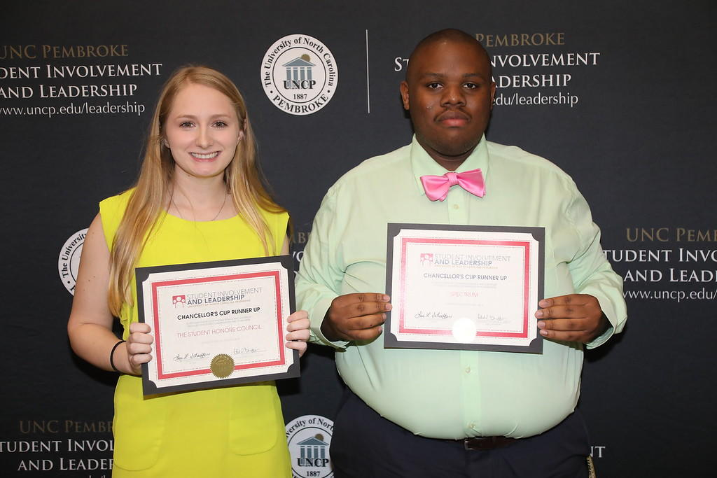 UNCP Student Involvement and Leadership Awards 2018