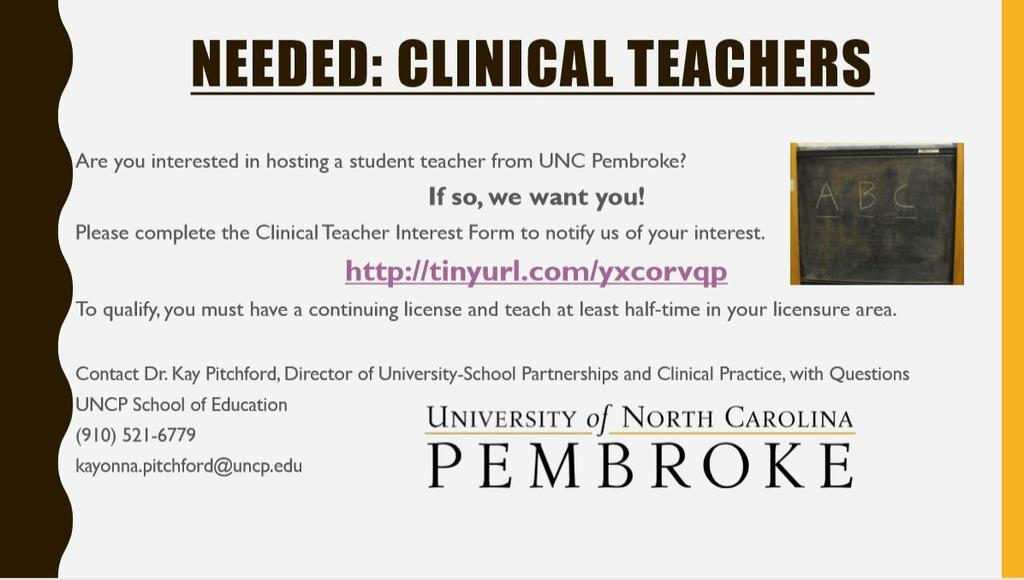 Needed: Clinical Teachers!