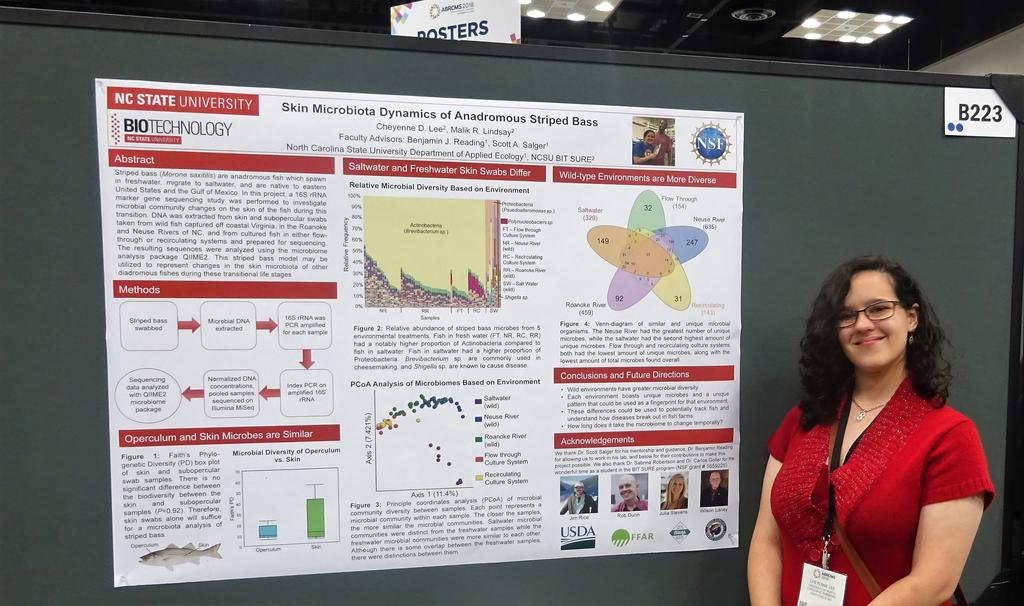 Cheyenne Lee presenting her poster at ABRCMS 2018