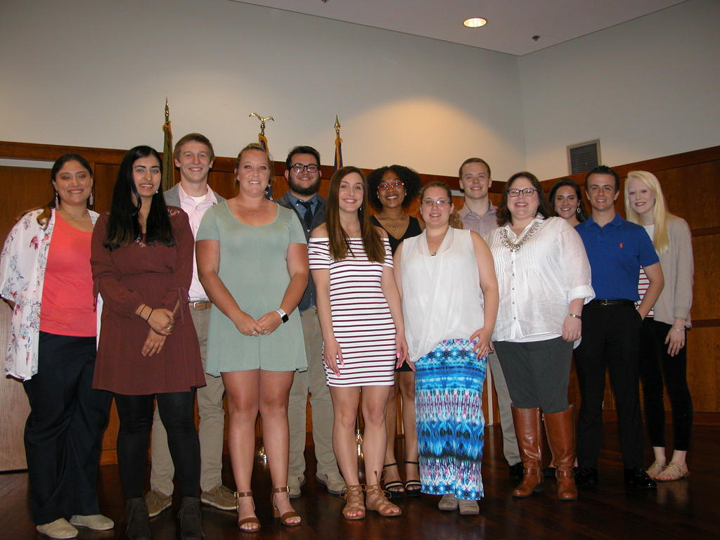 STUDENTS ARE INDUCTED INTO THE TRIBETA HONOR SOCIETY