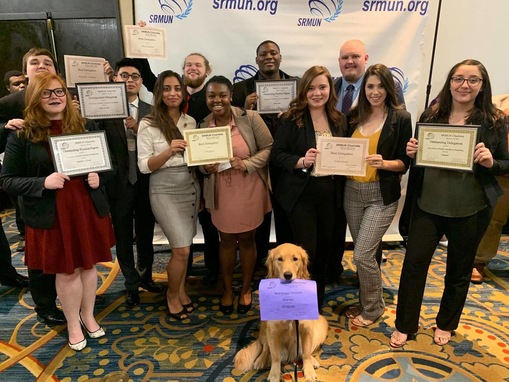 UNC Pembroke Model UN shows took home eight awards at 2019 Spring Southern Regional Model United Nations conference