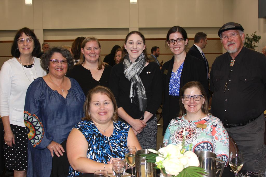 Biology faculty and supporters enjoy the awards banquet