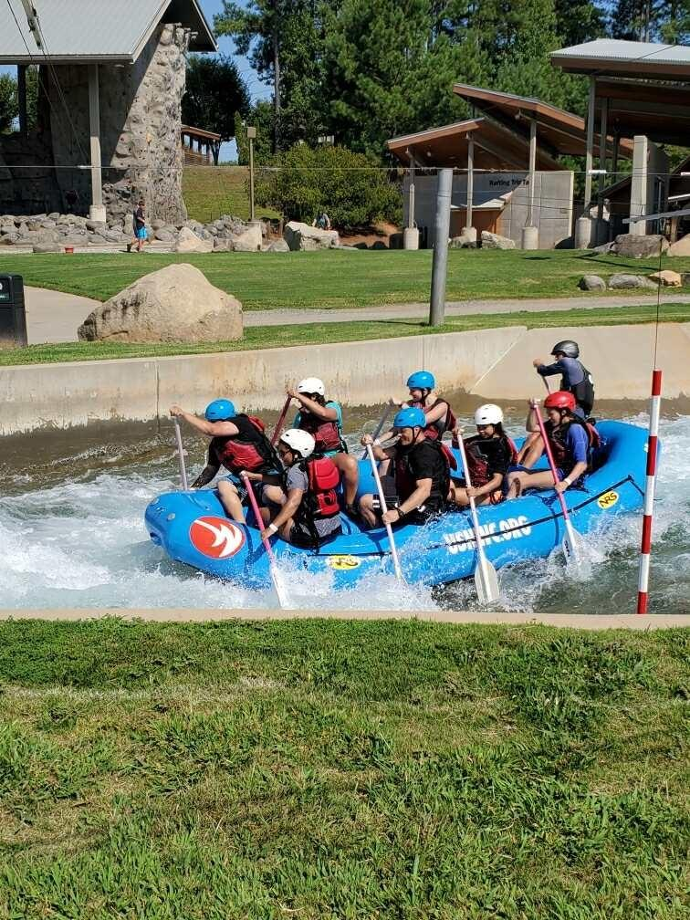 Native Strong participants enjoy whitewater rafting in Charlotte