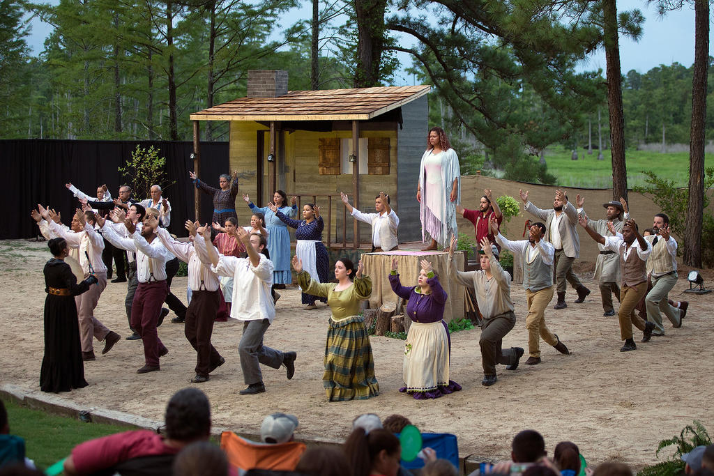 Strike at the Wind! was performed in front of sold out audiences at the Adolph Dial Amphitheater in July