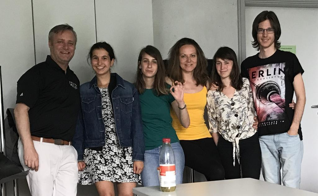 Dr. Aaron Vandermeer (far right) with students from Ludwidgsburg University