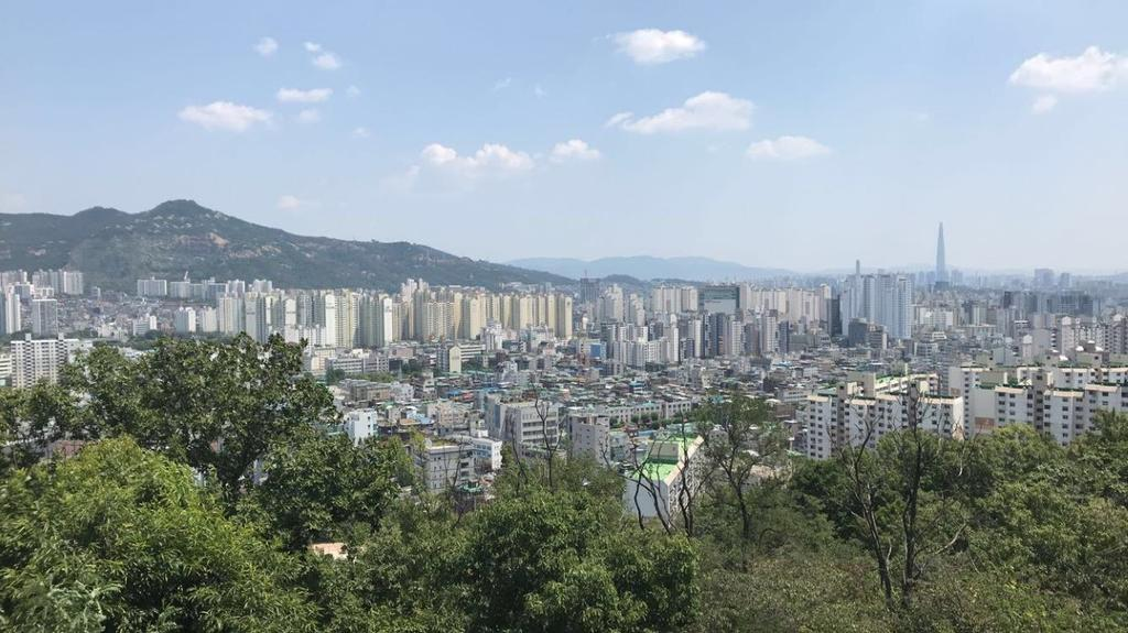 Skyline view of South Korea