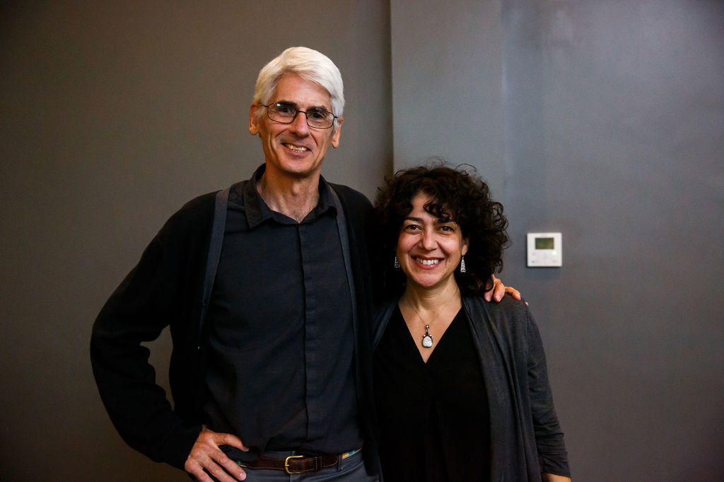 Dr. Michele Fazio with poet Jim Daniels