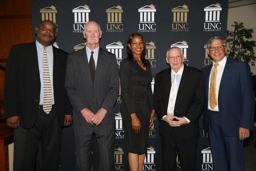 Roger Carr (left) Ray Nixon, Iris Bethea, Tommy Thompson and Chancellor Cummings. Not pictured is Richard Thompson