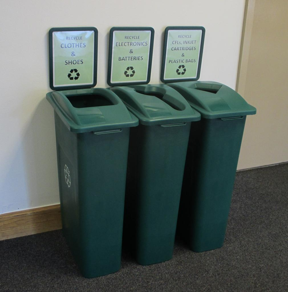 Campus recycling options