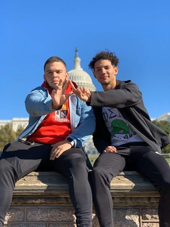 Phi Sigma Nu members Ethan Oxendine (left) and Jorden Revels were part of the UNCP delegation who attended the 10th annual ROADTRIP! Leadership Conference in Washington, DC