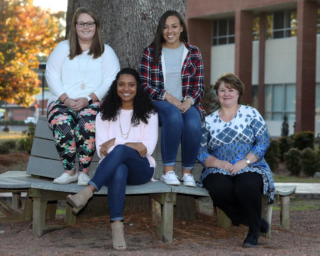 The 2019 Hattie M. Strong Scholars are (back row) Chelsey Cartrette and Meghan Canady. Seated are Dezarae Lehman and Darria Parker