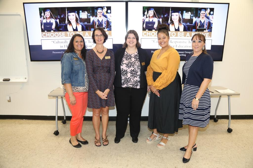 Presenters during the Culturally Responsive Teaching in Higher Education included Drs. Tiffany M. Locklear, Claudia Nicholson, Dana Unger, Leslie A. Locklear and Camille Goins