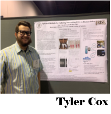 Tyler presenting his poster