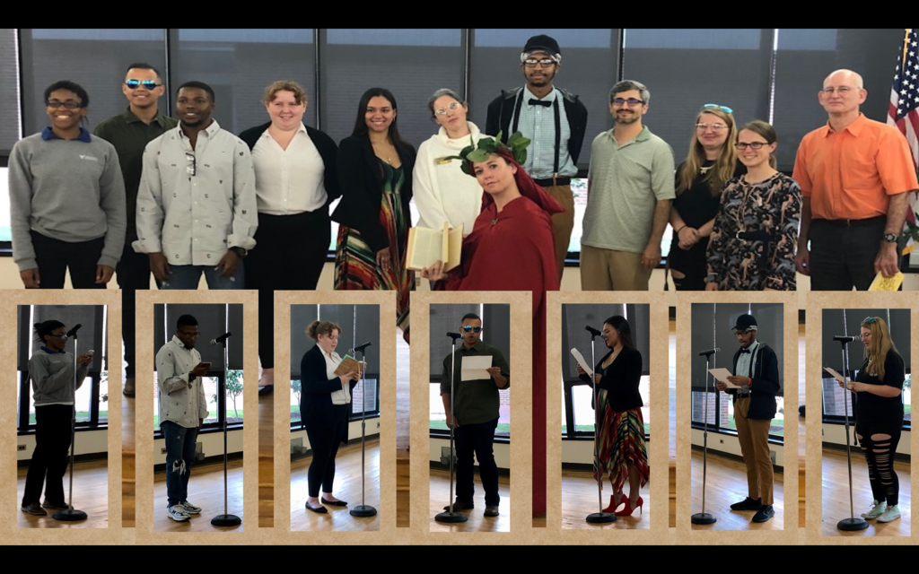 ETFL students and faculty participate in Dead Author Night on Oct. 31, 2019.